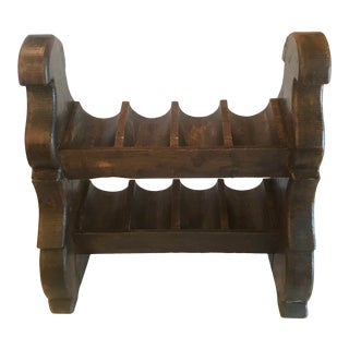 Late 19th Century Antique French Castle Wine Bottle Rack For Sale