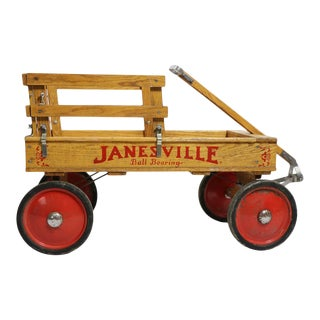 Vintage Childs Toy Wagon by Janesville For Sale