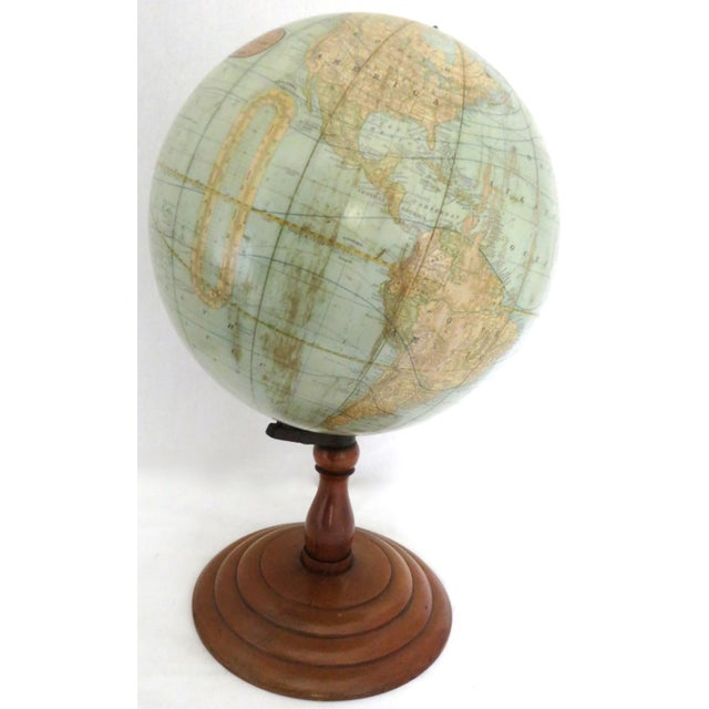 Antique Rand McNally Twelve Inch Terrestrial Globe - Atlas For Sale - Image 12 of 13