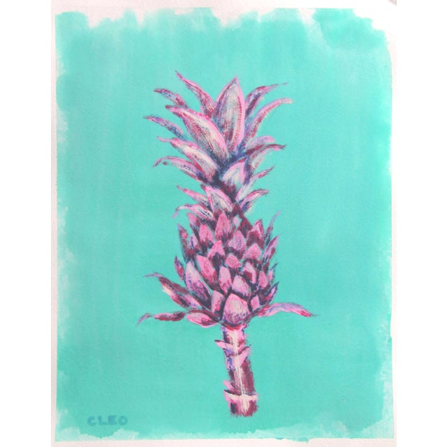 Watercolor Botanic Contemporary Tropical Leaves Painting by Cleo Plowden For Sale - Image 7 of 9
