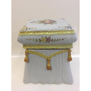 Very Pretty Italian Garden Seat End Table Preview