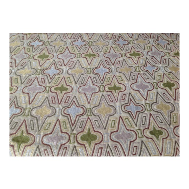 """C.1990's Donghia """"Casino"""" Textile Fabric - 3.5 Yards For Sale"""