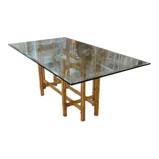 Island Style Bamboo Dining Table For Sale