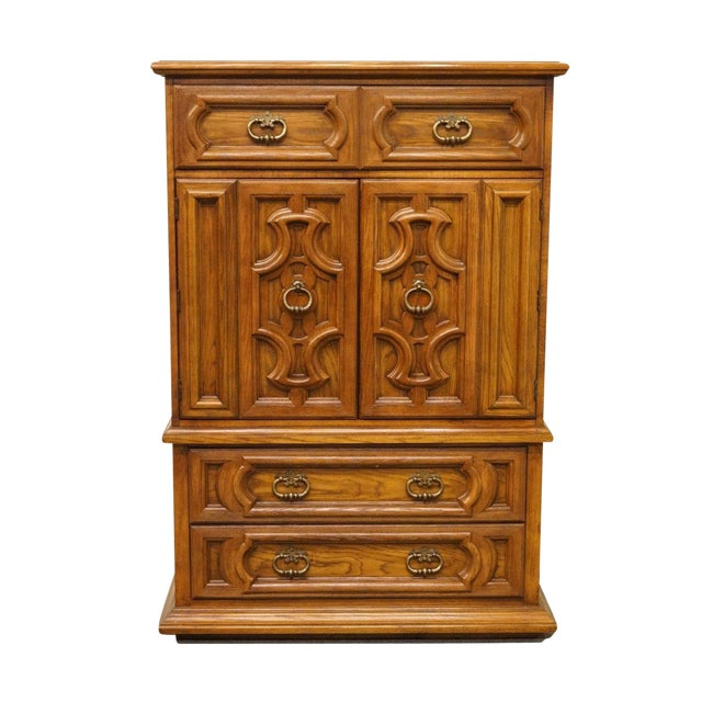 "20th Century Traditional Thomasville Furniture Levitz Collection 41"" Door Chest/Armoire For Sale"
