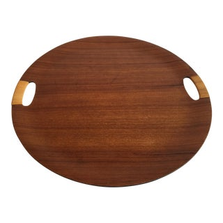 Mid-Century Modern Teak Plywood Serving Tray