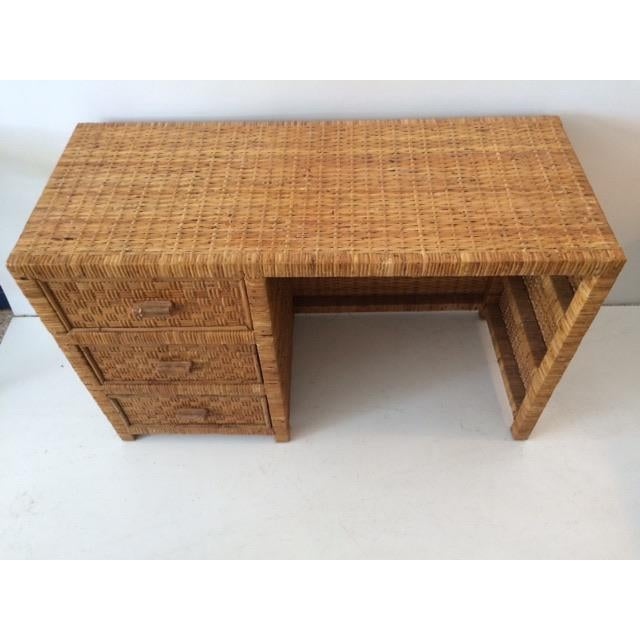 1980s Boho Chic Bielecky Brothers Writing Desk For Sale - Image 9 of 13