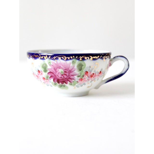 Antique Tea Cup With Gilt For Sale - Image 10 of 10