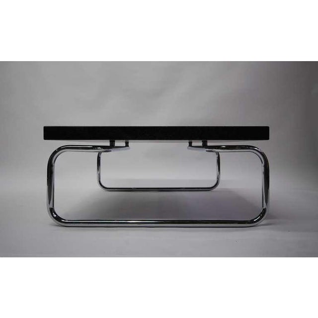 Michael McCarthy Square Cocktail Table With Black Granite Top by Cassina For Sale - Image 4 of 4