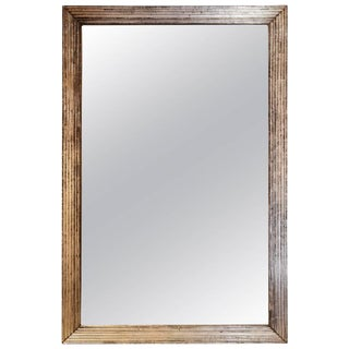 Large Silver Fluted Mirror