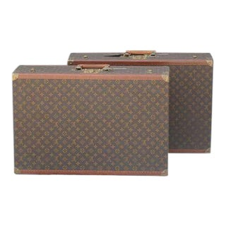 1960s Authentic Louis Vuitton Luggage Pieces - a Pair For Sale