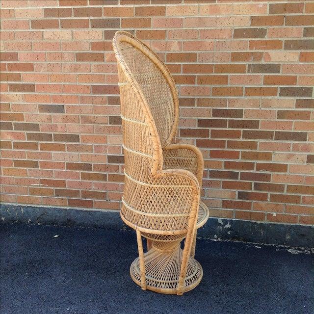 Vintage Rattan Peacock Chair - Image 5 of 9