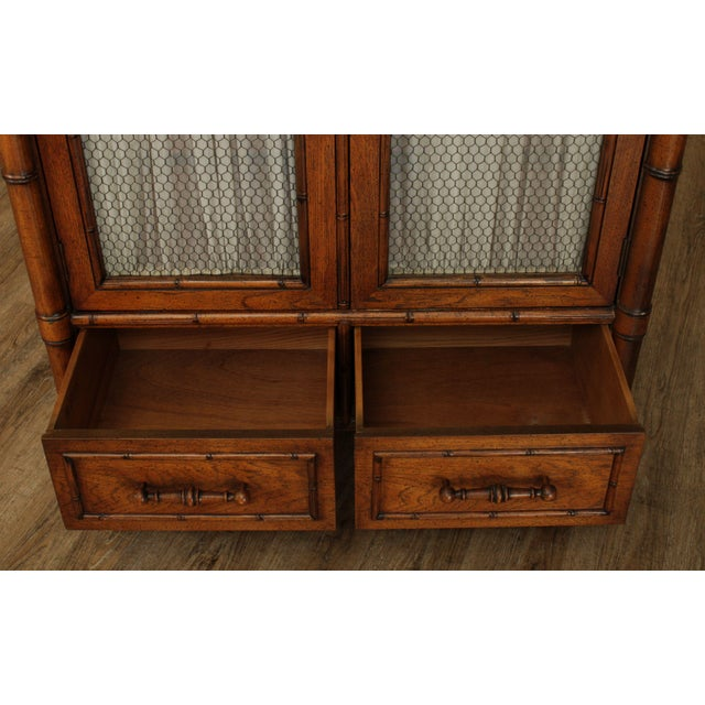 Century Faux Bamboo Bedroom Armoire Cabinet For Sale In Philadelphia - Image 6 of 13