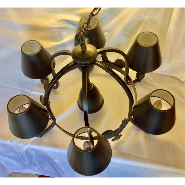 Late 20th Century Modern Farmhouse Chandelier For Sale - Image 10 of 13
