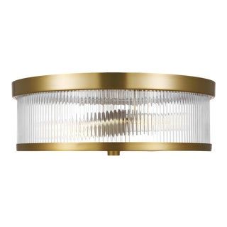 Chapman & Myers by Generation Lighting Geneva Flush Mount, Brass For Sale