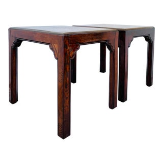 1980s Asian End Tables by Henredon Four Centuries - a Pair For Sale