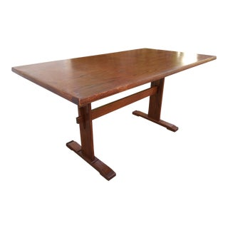 Mission Monastery Oak Dining Table For Sale