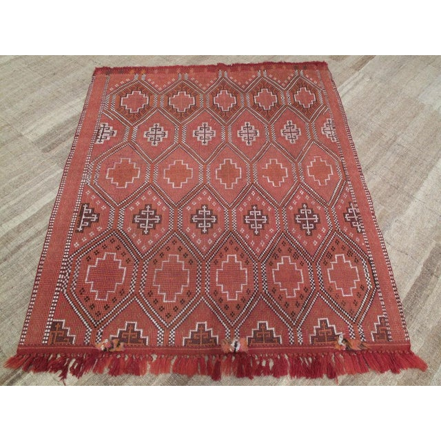Finely woven, vintage Turkish Kilim with a restrained color palette.