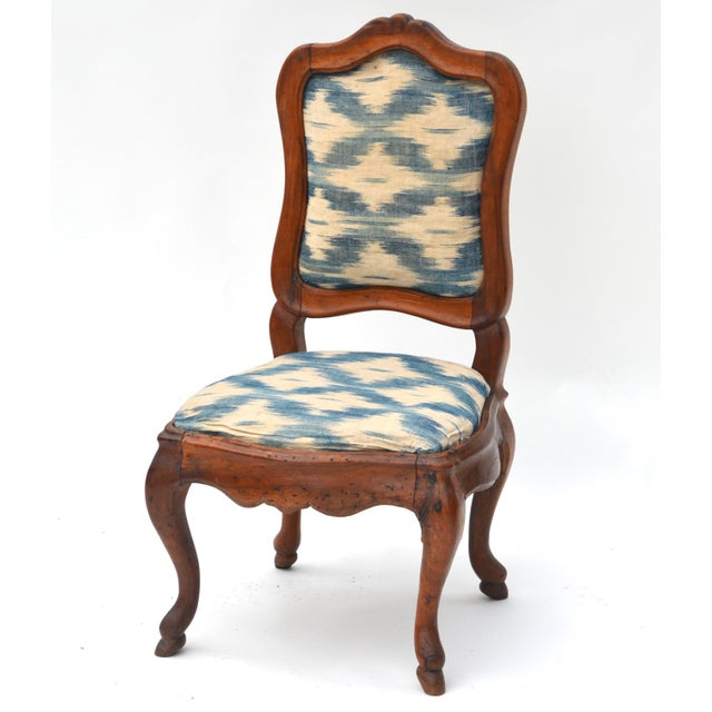 Traditional Antique Wood Upholstered Slipper Chair For Sale - Image 3 of 6 - Antique Wood Upholstered Slipper Chair Chairish