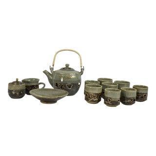 Vintage Otagiri Somayaki Tea Set - Set of 12