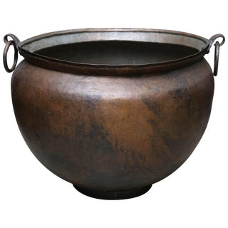 Late 19th Century Large Copper Alloy Cooking Vessel For Sale