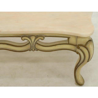 Marble to Pierced Carving Country French Provincial Coffee Table Cabriole Legs Preview