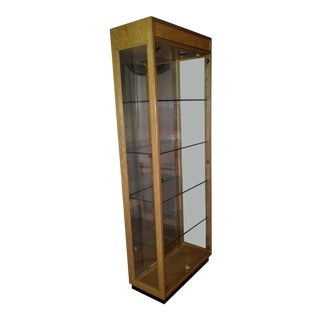 Art Deco Walnut Wood Curio Cabinet For Sale