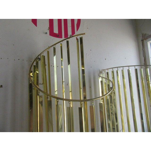 Modern Brass Wall Sculpture - Image 5 of 6