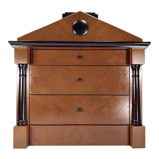 Biedermeier Architectural Jewelry Chest of Drawers For Sale