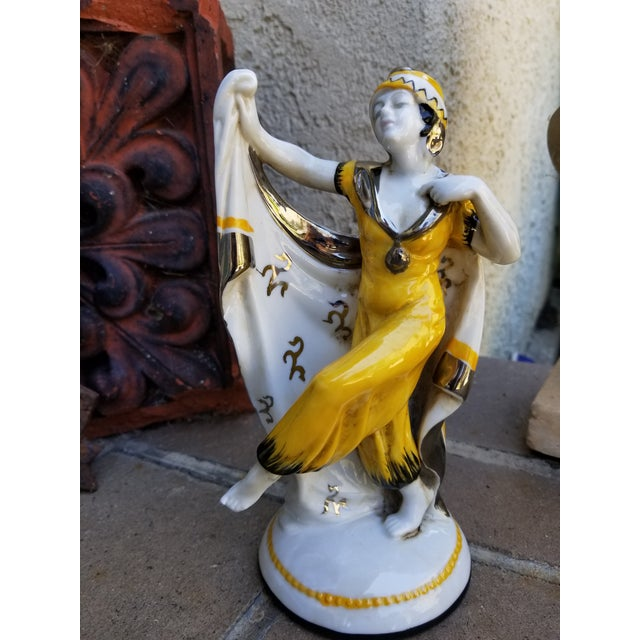 1930s Art Deco Dancer Figurine For Sale - Image 5 of 5