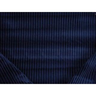 Traditional Ralph Lauren Granby Velvet Navy Sapphire Blue Upholstery Fabric - 3-1/4y For Sale