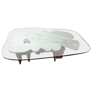 1960s Modern Italian Abbott Pattison Carrerra Coffee Table For Sale