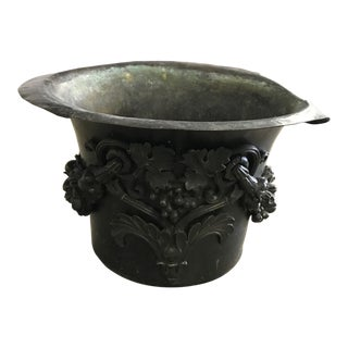 Early 20th Century Antique Iron Pot For Sale