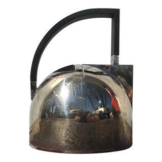 Vintage Art Deco Chrome Teapot For Sale