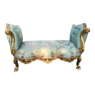 Custom Made French Louis XVI Style Bench For Sale