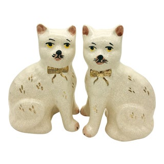 Staffordshire Cat Figurine - A Pair