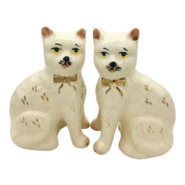 Staffordshire Cat Figurine - A Pair For Sale