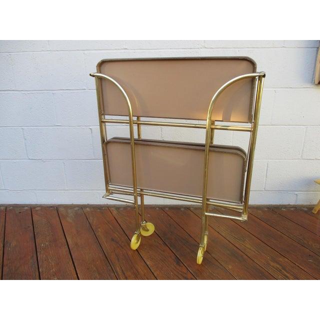 Folding Metal Bar Cart - Image 7 of 10