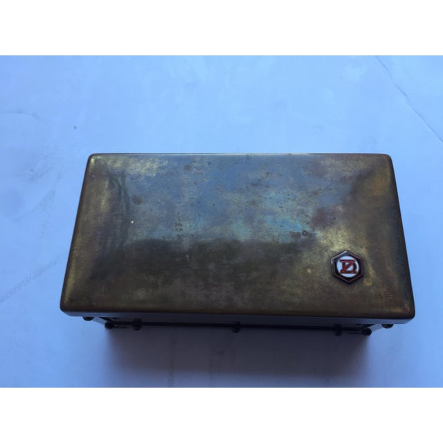 Vintage Brass Insignia Box For Sale - Image 5 of 6