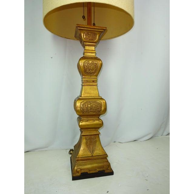 Large Italian Ceramic Lamp 5-1/2 ft. 1960s - Image 3 of 8