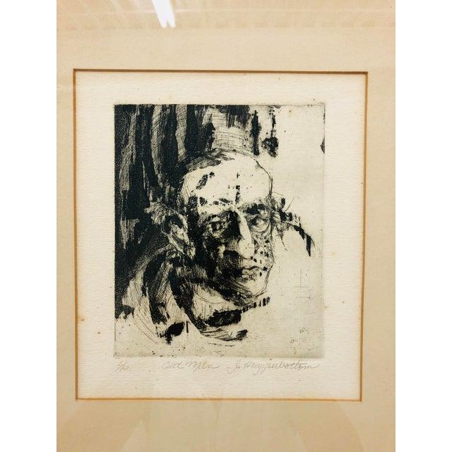 Original Vintage Block Prints in Frame - A Pair For Sale - Image 4 of 9