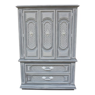 Arabeque Grey Armoire/Cabinet