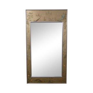LaBarge Chinoiserie Eglomise Frame Wall Mirror