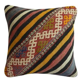 "Turkish Handmade Pillow Cover. Kilim Throw Pillow Sham - 16"" X 16"" For Sale"