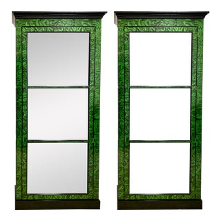 Baker Collector's Edition Faux Malachite Cabinets Att. Alesandro - a Pair For Sale