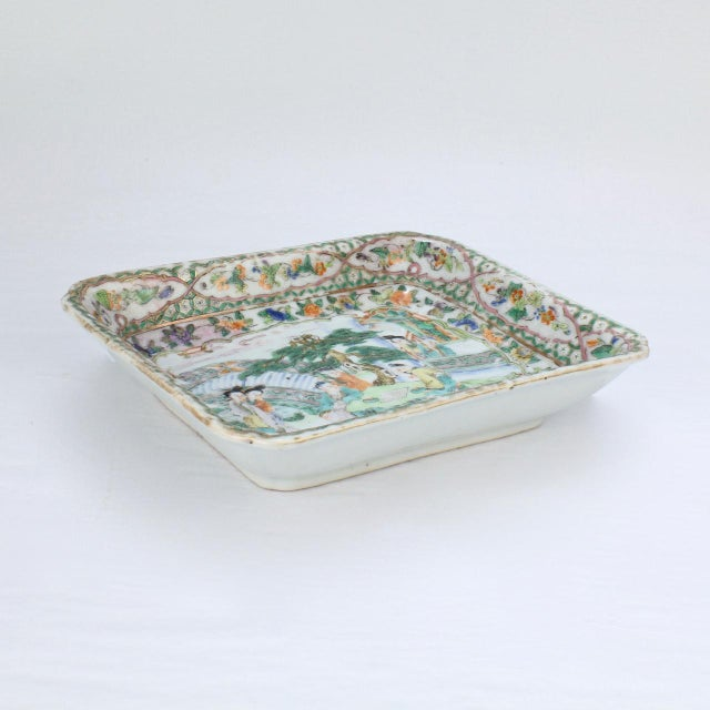 Chinese Antique Chinese Export Porcelain Famille Verte Bowl For Sale - Image 3 of 13