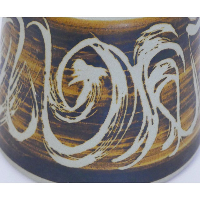 1970s Designs West, Ca Stoneware Vessel For Sale - Image 5 of 7