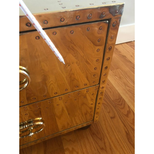 Sarreid Ltd. Brass Trunk For Sale - Image 10 of 12