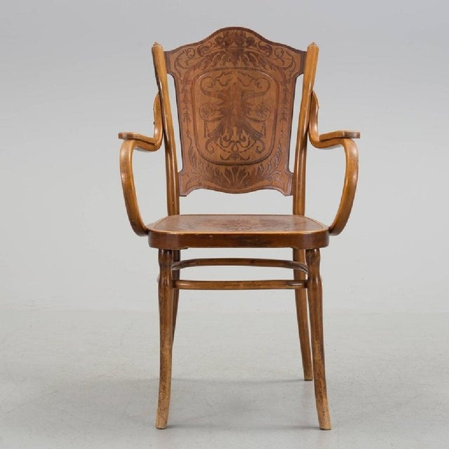 Traditional Pair of Vienna Secession Armchair by Jakob & Josef Kohn, 1900s For Sale - Image 3 of 6