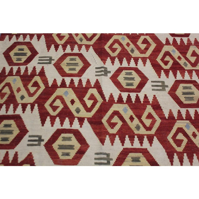 "Traditional Aara Rugs Inc. Hand Knotted Maimana Kilim - 6'2"" X 4'5"" For Sale - Image 3 of 5"