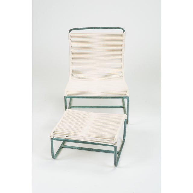 Sleigh Chair and Ottoman by Walter Lamb for Brown Jordan For Sale - Image 11 of 13